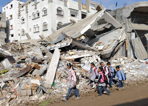 Children on their way to school in Gaza. © 2012 UNRWA Photo by Shareef Sarhan