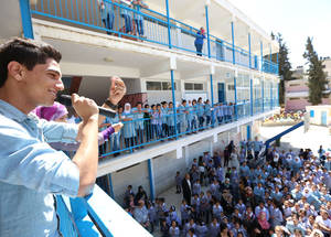 Mohammed Assaf Visits UNRWA Students in Am'ari