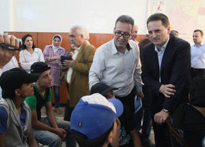 The Commissioner-General's visit reaffirmed the Agency's commitment to educating Palestine refugees in Syria despite immense logistical and infrastructural hurdles. Education is key to building resilience in times of crisis. Palestine School, Alliance, Damascus. © 2016 UNRWA Photo by Taghrid Mohammad