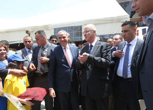 The Europe Day festivities were inaugurated by EU Representative Ralph Tarraf and Palestinian Prime Minister Dr. Rami Hamdallah in Ramallah on 9 May 2016. © 2016 UNRWA Photo by Alaa Ghosheh