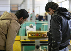 The short-term vocational training courses are extremely popular. From March 2015 to April 2016, there were 5,260 students enrolled. The courses offer 56 specializations, including hairdressing, mechanics, electrical repair, graphic design, accountancy, and mobile and computer maintenance.Damascus Training Centre, Syria. © 2016 UNRWA Photo by Taghrid Mohammad