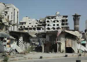أدت أكثر من خمس سنوات من النزاع إلى تدمير سورية ومجتمعاتها. حمص، سورية، أيلول 2015. الحقوق محفوظة للأونروا، 2015. تصوير تغريد محمد.
