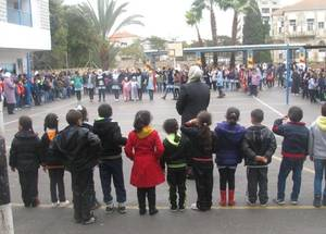 UNRWA students enjoy Open Day activities in the UNRWA Co-Ed School in Nablus. Nearly 50,000 Palestine refugee children attend the 96 UNRWA schools in the West Bank, where 75 school counsellors offer psychosocial counseling and support. © 2016 UNRWA Photo