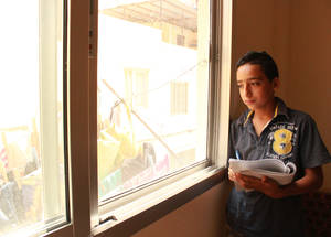 According to the administrators at Jabal Tabour Boys' School, Iyad was one of 22 students who dropped out of school last year. Nonetheless, they were all able to return thanks to the support and intervention of the school's teachers and education staff. © 2016 UNRWA Photo by Maysoon Mustafa