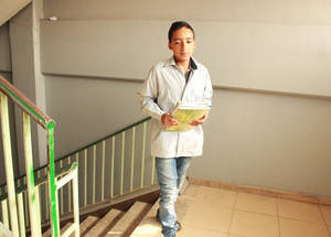 "This September Iyad will be entering grade 8 at Jabal Tabour Boys' School. ""My dream is to become an electronic engineer and I would like to specialize in repairing cell phones,"" he says. © 2016 UNRWA Photo by Maysoon Mustafa"
