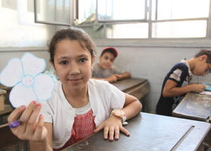 Among such abnormal circumstances, the priority of UNRWA in Syria has been to preserve the children's right to education at all costs. UNRWA has developed innovative approaches tailored to the specific challenges of the Syrian context, consolidating the Agency's Education in Emergencies programme. Al Neirabin School, Mazzeh. Damascus, Syria, July 2016 © 2016 UNRWA Photo by Taghrid Mohammad