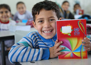 In Gaza, there are currently 29,754 students enrolled in the 22 schools that were either built or reconstructed with US funds since 2010. © 2016 UNRWA Photo by Tamer Hamam
