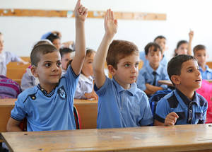 Fifty-four per cent of the UNRWA 2016 Programme Budget is allocated to education. High-quality basic education provides young Palestine refugees with a common set of key values, including dignity, tolerance, gender equality and human rights, helping them to shape a better future. © 2015 UNRWA Photo by Tamer Hamam
