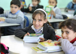 """For children, education is a passport to dignity,"" emphasized UNRWA Commissioner-General Pierre Krähenbühl. © 2016 UNRWA Photo by Tamer Hamam"