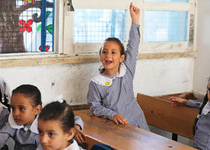 UNRWA students are among the most highly educated in the region. Since the 1960s, UNRWA has achieved gender parity in all schools, becoming the first school system in the Middle East to achieve equal enrolment of boys and girls. © 2015 UNRWA Photo by Tamer Hamam