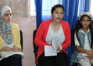 """I've been in the school parliament since first grade in UNRWA and non-UNRWA schools,"" said fifth-grader Bayan Adel. ""The experience here is different. We are truly engaged in the school's activities. It is great to be in the school parliament. This experience is not like any other."" © 2016 UNRWA Photo by Viola E. Bruttomesso"