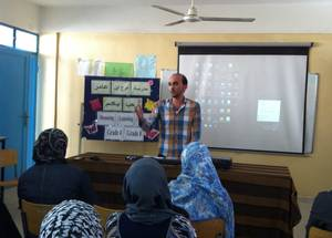 """Inclusive Education brought us close to our children,"" says Khaled Zueiter, a math teacher in Lebanon. ""By studying the files of each student carefully, we increased our awareness of their individual needs, which enhanced our ability to plan for their support."" © 2016 UNRWA Photo"