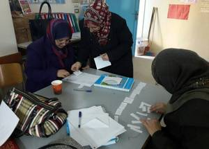 """Elementary teachers went through School-Based Training Development and my job was to guide them through 24 tasks based on best teaching practices,"" explains Nisreen Ayoub, the school principal at Marj Ben Amar school in Ein El-Hilweh camp in Lebanon. ""Within one year, the classes went from barely interactive teaching to active pedagogy, where students became the center of the teaching practices."" © 2016 UNRWA Photo"