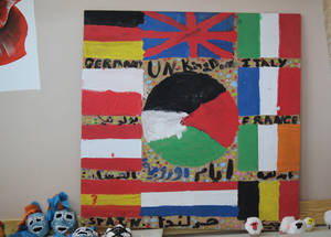 Through the Fun Day activities in the summer and throughout the school year, students learn more about the history, geography and culture of the European Union and its member states. © 2016 UNRWA Photo by Tala Heitawi