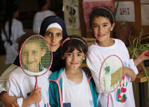 Students at the Ramallah Girls' School enjoy the annual EU Summer Fun Day activities. © 2016 UNRWA Photo by Tala Heitawi
