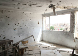 Did you know that since the beginning of the war, 60 per cent of UNRWA installations have been damaged or rendered inaccessible, with 57 schools partially or completely destroyed? Rafah Alternative Girl School, Husseiniyeh, Syria © 2016 UNRWA Photo by Salwa Moussa
