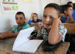 Did you know that close to 45,000 students are enrolled in 101 UNRWA and UNRWA-managed schools throughout Syria for the 2016/17 school year? Nahaf School, Jaramana Camp, Damascus, Syria © 2016 UNRWA Photo by Taghrid Mohammad