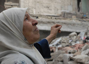 The conflict in Syria often invokes memories of the Nakba among older generations of Palestine refugees. Of the 560,000 Palestine refugees originally recorded with UNRWA, an estimated 450,000 remain in Syria, with 430,000 wholly reliant on UNRWA humanitarian assistance. Qabr Essit, Syria. © 2014 UNRWA Photo by Irina Prentice