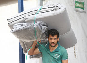 Non-food items – composed of hygiene kits and other basic items, such as blankets and mattresses – are provided to the 280,000 internally displaced Palestine refugees in Syria. Damascus, Syria. © 2016 UNRWA Photo by Taghrid Mohammad