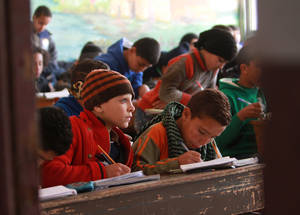 Despite the disruptive impact of the conflict, more than 45,000 Palestine refugee children in Syria are enrolled in 101 schools directly managed or supported by UNRWA for the 2016/17 academic year. Khan Dunoun, Syria. ©2016 UNRWA Photo by Taghrid Mohammad