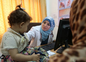 The 2017 Emergency Appeal seeks to ensure that the Agency's 22 health centres across Gaza are adequately supplied, to support school health teams and screenings for Palestine refugee students, to offer subsidies for refugees living under the abject-poverty line, and to provide students with special needs with appropriate medical treatment and assistive devices. © 2016 UNRWA Photo by Mohamed Hennawi