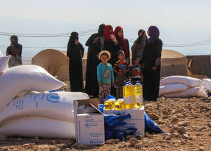 Under the 2017 Emergency Appeal, the UNRWA-WFP joint intervention will provide regular food distributions to approximately 36,000 Bedouin and herders, who represent some of the most vulnerable communities in the West Bank. © 2016 UNRWA Photo by Tala Zeitawi