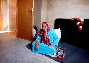 منازل من الطوب اللبن في غزة