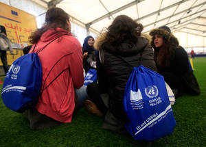 Participants at the UNRWA Academic Fair in Lebanon were provided with information and assistance on career planning, educational programmes, admissions processes, and available majors and scholarships. Hoops Club, Beirut. © 2016 UNRWA Photo by Ali Hashisho