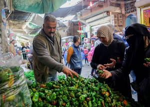 Since the conflict began, food and non-food item (NFI) prices have sharply risen and the value of the Syrian pound has plummeted, jeopardizing livelihoods. As a consequence, 95 per cent of Palestine refugees have become completely reliant on UNRWA humanitarian assistance. Neirab, Syria. © 2016 UNRWA Photo by Ahmad Abu Zeido