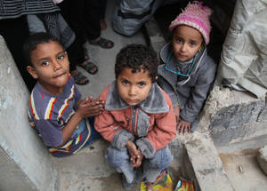 Children are the most affected by the harsh, cold winter. Thanks to the contribution from ECHO, the Agency's one-time cash assistance top-up of US$ 32 will allow parents to buy jackets and fuel to keep their children warm during the winter. Khan Dunoun, Syria. © 2016 UNRWA Photo by Taghrid Mohammad