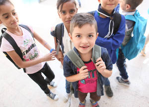 Through innovative approaches, the UNRWA EiE response helps ensure that Palestine refugee children can continue to access quality education and learning opportunities, even in times of crisis and conflict. Damascus, Syria. © 2016 UNRWA Photo by Taghrid Mohammad