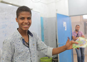 Cash assistance allows people to make their own choices and restores dignity and independence at a time when they have little control over their future. It also allows them to prioritize expenditures according to the needs of their household. Damascus, Syria. © 2017 UNRWA Photo by Taghrid Mohammad