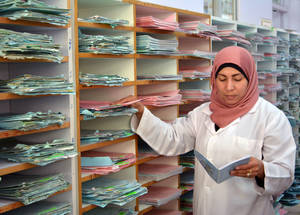 Twenty out of twenty- six health-care facilities in the North Central and Damascus areas have so far implemented the Family Health Team approach. The implementation of the programme in the South area in underway. Rif Damascus, Syria. © 2017 UNRWA Photo by Taghrid Mohammad