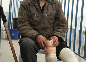 Mun'em is a Palestine refugee displaced from Dera'a who lost his leg when he was hit by stray bullets three years ago. Thanks to the EU DG NEAR donation, UNRWA is providing assistive and prosthetic devices to Mun'em and up to 1,802 other Palestine refugees with disabilities.  Damascus, Syria © 2017 UNRWA Photo by Taghrid Mohammad