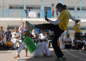 Capoeira helps kids affected by conflict