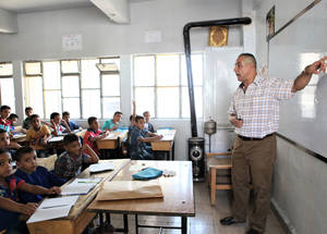 UNRWA employs 1,800 teachers in Syria. A grant from Japan pays the salaries of some 400 teaching staff. ©UNRWA 2016 Photo by Taghrid Mohammad