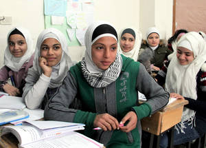 """Education is super important for girls because it gives us prospects for the future,"" says Bayan, a student at an UNRWA school in Husseiniyeh, ""I hope to become an Arabic teacher."" ©2018 UNRWA Photo by Tarek el-Hesniyeh"