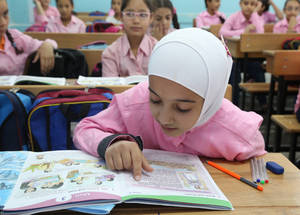 50 per cent of students at UNRWA schools in Syria are girls. Gender equality is an integral part of the Agency's commitment to the welfare, human development and protection of Palestine refugees. © 2017 UNRWA Photo by Ahmad Abu Zeid