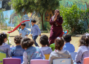 Thanks to support from Belgium, UNRWA set up two recreational spaces in Gaza where children can learn and engage in extra-curricular activities. In emergency situations, these spaces will also provide a safe space for children to play, learn and be themselves. ©2018 UNRWA Photo by Rushdi Sarraj.