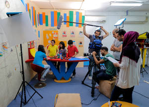 With the support of Belgium, UNRWA has developed educational TV lessons, broadcast on YouTube (available at www.youtube.com/user/unrwatv). These lessons include encompass core subjects, namely  Arabic, English, mathematics and science for UNRWA students in grades 4-6. ©2017 UNRWA Photo by Rushdi Sarraj.