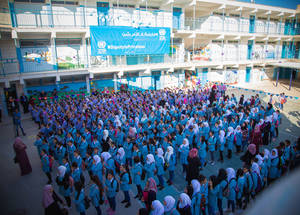 UNRWA opened its doors to some of 50,000 young Palestine refugee students in the West Bank for the first day of the 2018-2019 academic year. © 2018 UNRWA Photo by Ameen Saeb