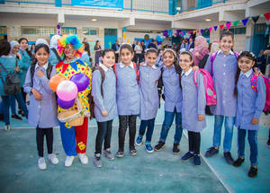 UNRWA strives to serve Palestine refugee children through access to a quality education. The Agency remains under threat as a result of financial challenges and abnormal circumstances in some fields. © 2018 UNRWA Photo by Ameen Saeb