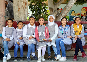 "In 2016, Dubai Cares launched the ""Safeguarding the Rights to Education for Palestine Refugee Children in Gaza"" program valued at US$ 3,103,824. © 2019 UNRWA Photo by Khalil Adwan"