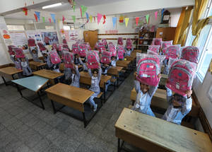 Another contribution by Dubai Cares worth US$ 3,840,000 was part of a US$ 15 million donation by the United Arab Emirates. Around 6,025 students enrolled in five UNRWA schools were guaranteed access to quality education for one school year. The contribution also supported the operational costs of the schools, in addition to school bags and stationery for students!  © 2019 UNRWA Photo by Hussein Jaber