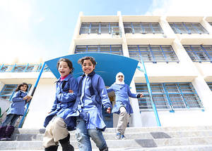 In addition, the program provided around 1,500 students with a new school facility. This included the provision of all necessary equipment and furniture. The construction of the new school also generated temporary job opportunities for the local community. © UNRWA Photo