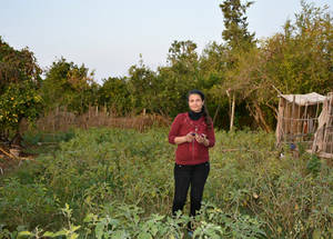 """The microfinance loans that UNRWA provides give me security – farming is seasonal and I often have to invest in material when money is low. The loans allow me to bridge the gap,"" says Shareen. The income from her business supports has allowed her to support her husband, a taxi driver, fulfill his dream of purchasing his own vehicle and further increase the family's income. © 2018 UNRWA Photo by Fernande van Tets"