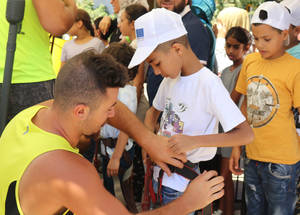 1,200 Palestine refugee students from 15 UNRWA schools across Lebanon enjoy dozens of exciting summer activities thanks to the 2019 EU Fun Days © 2019 UNRWA Photo by Abir Nouf