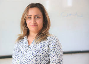 "31-year-old Palestine refugee Lubna Ayoub has been working for UNRWA for four years as a daily paid teacher for third-grade students. Lubna loves her job and is proud to be inspired by her little students. She also feels joy every day she steps into her classroom. ""I have chosen the career of teaching because it is one of the highest professions in life to build a mindful generation capable of taking responsibility and believing in building the future of my country,"" Lubna says.  Inspired by her loving Arabic teacher in grade five, she believes that a teacher is like a magical instrument to help students love their school and that she follows the steps of her role-model teacher in delivering information to the students."