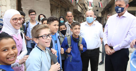The Commissioner-General of the United Nations Relief and Works Agency for Palestine Refugees in the Near East (UNRWA), Mr. Philippe Lazzarini, made his first official visit to Syria on 26-29 October 2020.