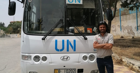 Through the Australian Government's Australia Assists program, Nisarg, an emergency management specialist from Melbourne, joined UNRWA's Covid-19 Response Taskforce as an Emergency Officer.